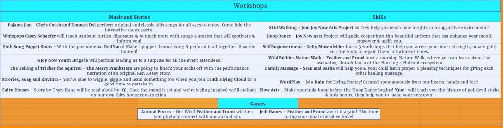 Kid's Area Workshops & Games FINAL